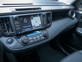 The center dashboard, standard on trims XLE and higher, features a 4.2-in multi-informational...