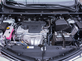 Toyota's RAV4 runs on a 2.5L 4-cylinder engine that's paired to 6-speed transmission. It...