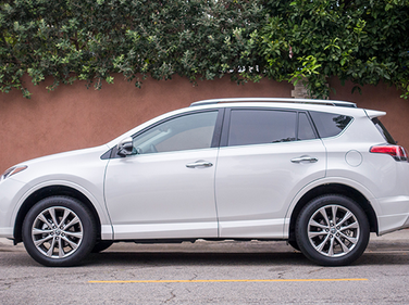The RAV4 is 104.7 inches in length.
