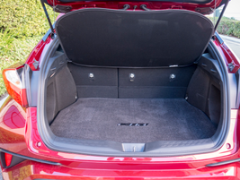 Cargo volume of 19 cubic feet grows to 36.4 cubic feet with the second row of seats folded down.