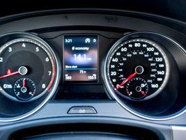 Safety technology includes forward-collision alert and lane-departure warning with steering...