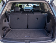 With both rows in the seating position, the Atlas offers 21 cubic feet of storage.