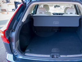 The XC60 has 22.4 cubic feet ofcargo spacebehind the rear seats and63.3 cubic feet with the...