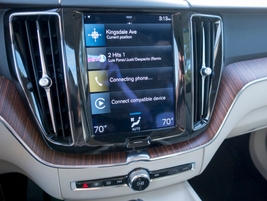 The 9-inch color touchscreen will be familiar to those who have driven the XC90.