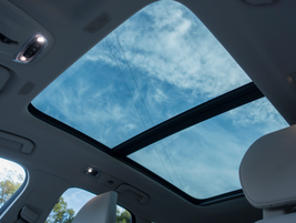 A dual-pane moonroof floods the cabin with natural light.