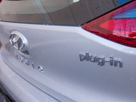 """The exterior of the Ioniq PHEV resembles its earlier siblings except for the """"plug-in"""" badging."""