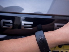 A wearable device enables access to the vehicle without the key fob.