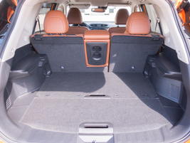 Cargo space is 39.3 cubic feet and 70 cubic feet with the seats folded down.