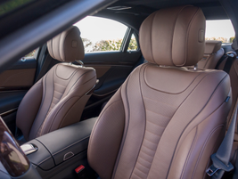 The cabin includes an array of upgrades and creature comforts such as inductive wireless charging.