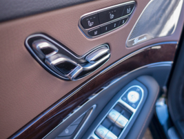 Power heated front seats include lumbar support and memory settings.