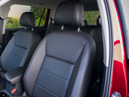 Textured front seats are slightly bolstered.
