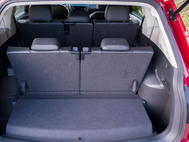 The two-row Tiguan offers 37.6 cubic feet with its seats in place.
