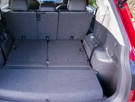 With the second-row folded down, the vehicle offers 73.5 cubic feet.