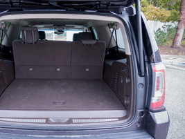 The vehicle offers 15 cubic feet of cargo space with three rows upright and 94.7 cubic feet with...