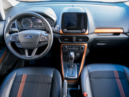 The EcoSport sits high, which offers good driver visibility of the road ahead.