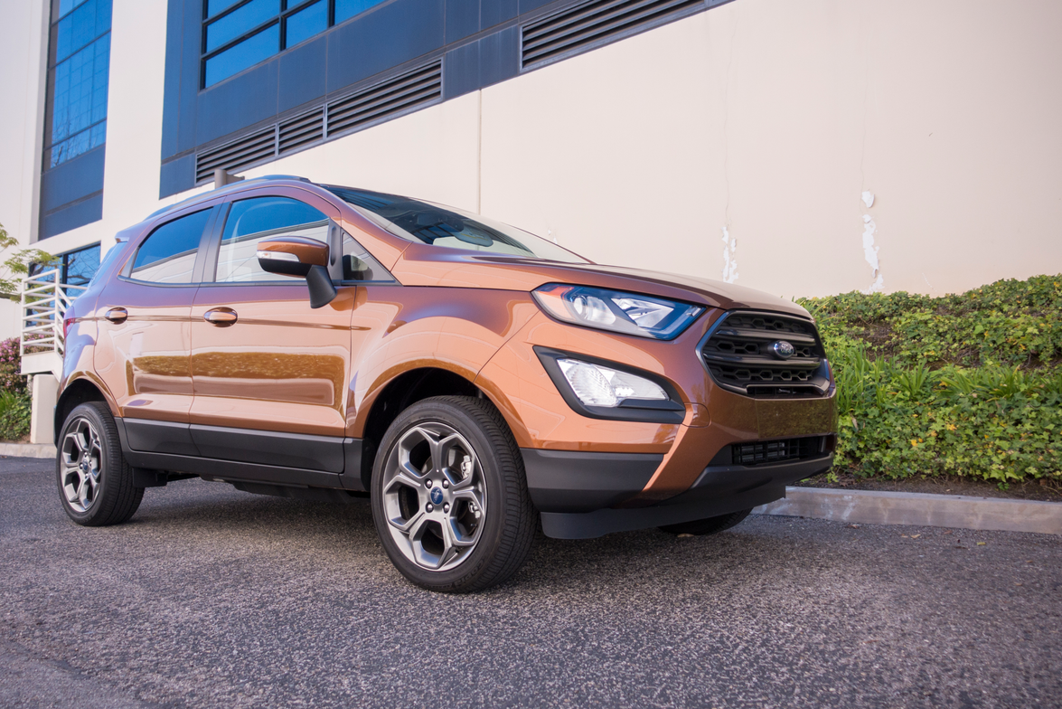 The EcoSport is 16.8 inches shorter than the Escape.
