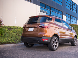 The EcoSport offers 21 cubic feet of cargo space behind the rear seats.