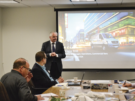 Presenting at the event was Claus Tritt, general manager, operations, commercial vans for...