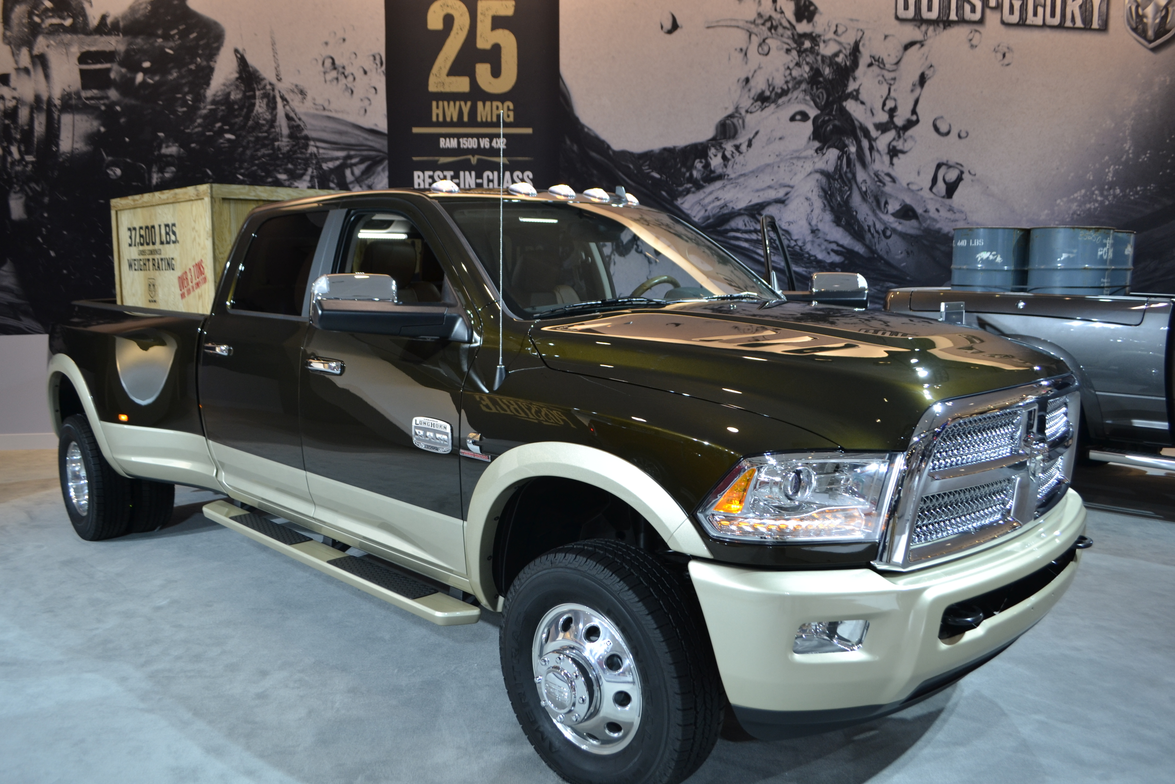 Ram demonstrated the load capacity of one of its Heavy-Duty Trucks.