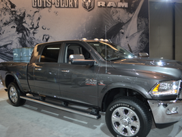 Ram commercial was well represented with a number of the automaker's iconic trucks and vans.