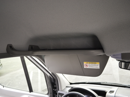 Several driver cargo areas are available, including this overhead shelf.