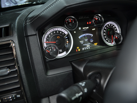 The instrument cluster for a Ram 1500 light-duty truck.