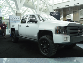 The 2014 VIA VTRUX is the first all-electric, full-size, four-wheel-drive pickup.