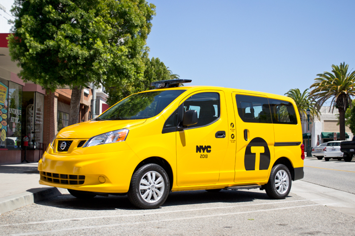 The NV200 taxi is now widely available after its initial introduction in New York City in late 2013.