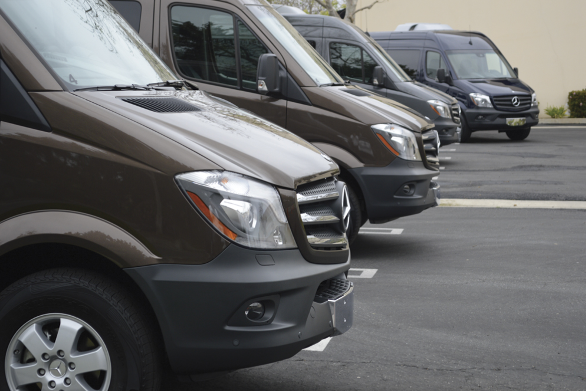 Mercedes-Benz brought four Sprinter 2500 passenger vans to Bobit Business Media on March 25 to...