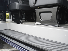This is the standard side step-in on the long wheelbase passenger van, which seats 12 passengers.