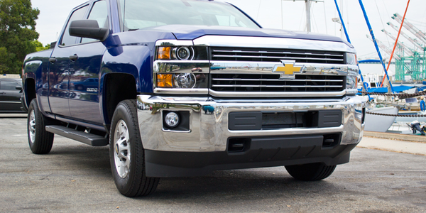 The 2015 Silverado 2500 Crew Cab with bi-fuel CNG option reduces emissions while delivering...