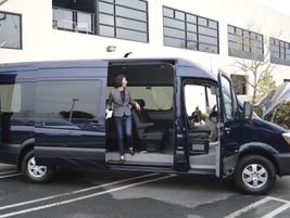 With the high roof, this passenger model has a maximum interior standing height of 76.4-in.