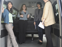 The high roof, extended passenger van leaves enough room for walk-in use (Bobit Business Media...