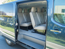 The NV3500 passenger van offers leather-appointed seating for 12, including the driver.