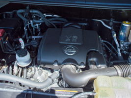 Here's a view of the van's optional 5.6L V-8; a standard 4.0L DOHC V-6 comes with the base model.