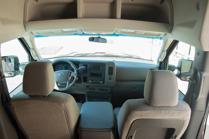 The center console provides room for storage of a laptop or work files, as well as 120-volt...