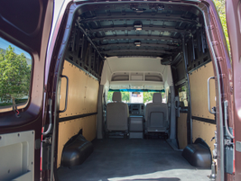 The van offers a spacious cargo area that maxes out at 234.1 cubic feet.