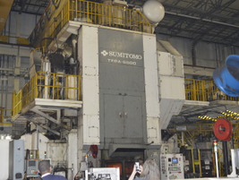 This Sumitomo forge is where the crankshafts go through the production process.