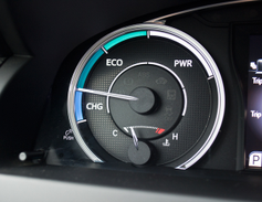 This instrument gauge shows drivers which of the three modes they are operating in (Charging,...