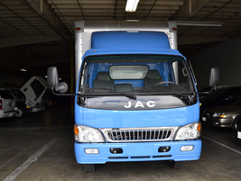 This is a new JAC Isuzu natural gas truck from GreenKraft that's ready to go.