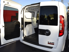 The ProMaster City offers 60/40-split rear doors.