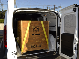 This Ram ProMaster City van had a 600-pound payload. These cargo vans have a payload capacity of...
