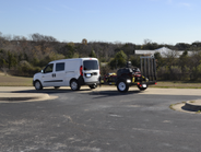 This ProMaster City towed a trailer with a zero turn mower. The total trailer weight was just...