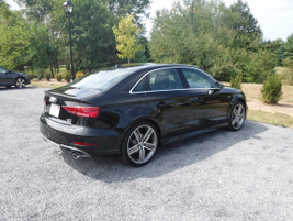 An Audi A3 2.0T Quattro sits in front of the National Sporting Library and Museum in Middleburg, Va.