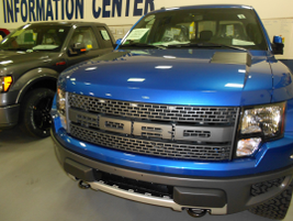 An F-150 at Ford's facility.