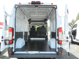 The ProMaster contains a payload of 4,110 pounds and 406 cubic feet of cargo space.