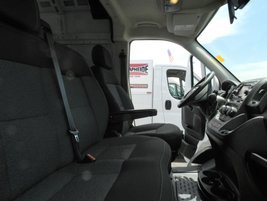 The ProMaster offers a turning radius of 36 feet.