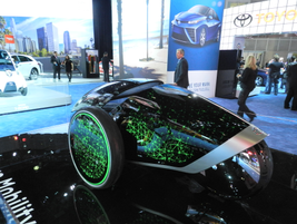An interesting, single seat concept car from Toyota with light up screens that changed over time.