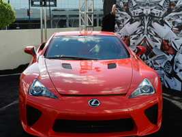 The Lexus LFA outside of the convention center
