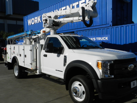 Ford F-550 with service body and electric boom